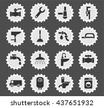 plumbing service web icons for... | Shutterstock .eps vector #437651932