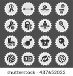 sport web icons for user... | Shutterstock .eps vector #437652022