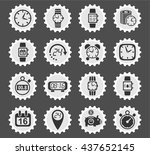 time web icons for user... | Shutterstock .eps vector #437652145