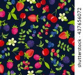 vector seamless pattern with... | Shutterstock .eps vector #437656072