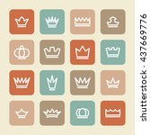 king pictograph | Shutterstock .eps vector #437669776