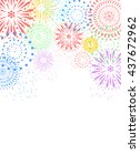 fireworks on white background | Shutterstock .eps vector #437672962