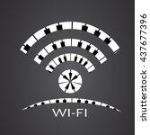 wifi logo made from piano