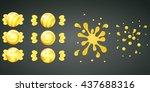 yellow lemon candy with splash... | Shutterstock .eps vector #437688316