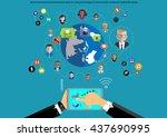 vector businessman...   Shutterstock .eps vector #437690995
