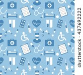 medical vector pattern for your ... | Shutterstock .eps vector #437692222