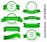 green banner set isolated on... | Shutterstock .eps vector #437698015