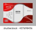 tri fold corporate business... | Shutterstock .eps vector #437698456