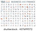 set vector line icons in flat...   Shutterstock .eps vector #437699572
