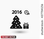 fir a present  icon vector   Shutterstock .eps vector #437704156