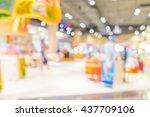 abstract blur shopping mall... | Shutterstock . vector #437709106