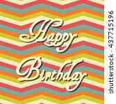 happy birthday inscription on...   Shutterstock .eps vector #437715196