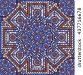 seamless oriental ornamental... | Shutterstock .eps vector #437716678