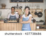 successful small business owner ... | Shutterstock . vector #437738686