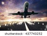 aircraft runway | Shutterstock . vector #437743252
