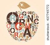 apple is symbol of organic food.... | Shutterstock . vector #437745772