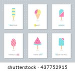 ice cream and popsicle on... | Shutterstock .eps vector #437752915