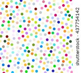polka dots pattern colorful... | Shutterstock .eps vector #437754142