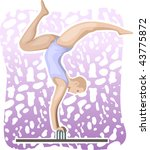 illustration of men exercise  | Shutterstock .eps vector #43775872