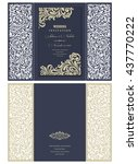 wedding invitation baroque.... | Shutterstock .eps vector #437770222
