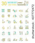 vector set of icons on a theme... | Shutterstock .eps vector #437772472