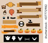halloween decoration vector... | Shutterstock .eps vector #437772982
