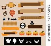 halloween decoration vector... | Shutterstock .eps vector #437772982