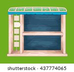 game wooden shelf window