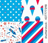 Usa Patterns   Collection Of 4...