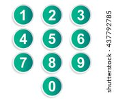 number icons   Shutterstock .eps vector #437792785