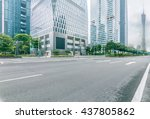street scene in guangzhou china. | Shutterstock . vector #437805862