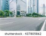 street scene in guangzhou china. | Shutterstock . vector #437805862
