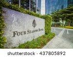 guangzhou  china   jun 10. four ...   Shutterstock . vector #437805892