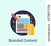 branded content   branded...   Shutterstock .eps vector #437807536