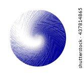halftone wave background. blue... | Shutterstock . vector #437814865