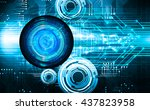 blue abstract light hi speed... | Shutterstock .eps vector #437823958