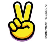 Vector Victory Hand Isolated O...