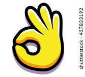 vector ok hand isolated on... | Shutterstock .eps vector #437833192