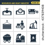 icons set premium quality of... | Shutterstock .eps vector #437839408