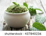 mint chutney with fresh mint...