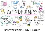 mindfulness optimism relax... | Shutterstock . vector #437845006