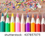 pencil lead colorful pencil    Shutterstock . vector #437857075