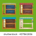 game wooden shelf windows set