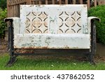 Old Metal Weathered Bench In...