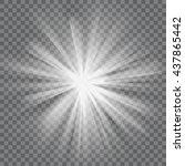 white glowing light. bright... | Shutterstock .eps vector #437865442