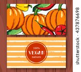 set of hand drawn vegetables....   Shutterstock .eps vector #437876698