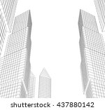 architecture abstract  3d... | Shutterstock . vector #437880142