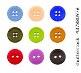 Small photo of Sewing buttons, Plastic buttons, Colorful buttons background, Buttons close up on white background