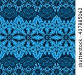 vector seamless abstract tribal ...   Shutterstock .eps vector #437885062