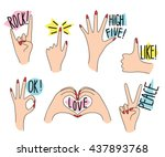 Hand Gestures Collection In Fu...